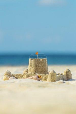 海滩上的沙子城堡