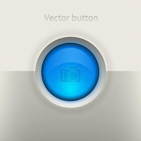 蓝色圆形按钮