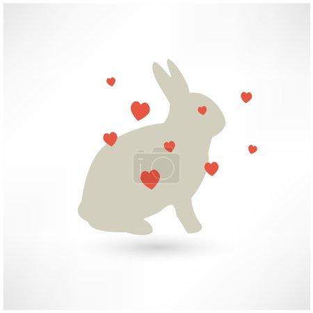 Easter Rabbit bunny silhouette